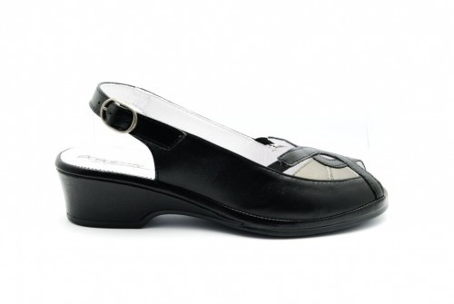 Academy Confort Zwart Sandaal