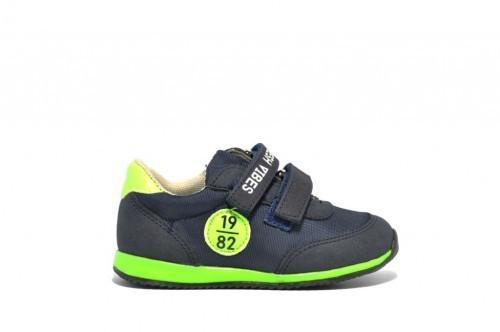 Baby Sneakers Blauw En Groen