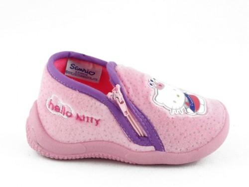 Babypantoffel Hello Kitty Roze Rits