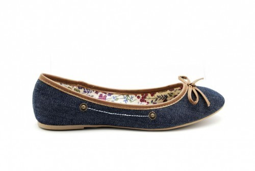 Ballerina Blauw Jeans