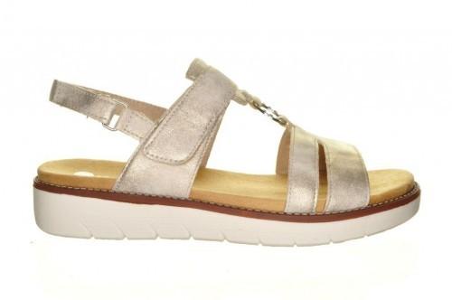 Beige Trendy Comfort Sandaal Steunzolen Remonte