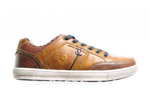 Cognac Sneaker Heren Casual