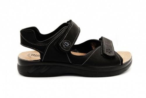 Comfortabele Herensandaal Zwart Met Velcro's