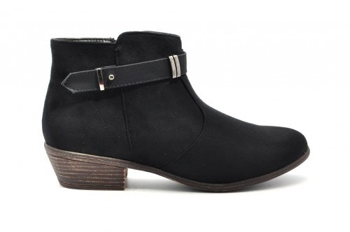 Dames Laarzen Zwart Daim