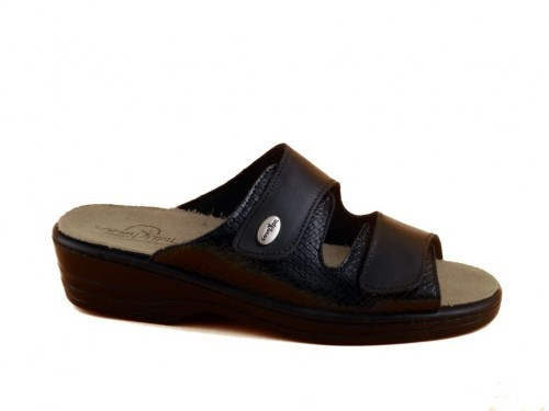 Dames Muillen Slippers Zwart