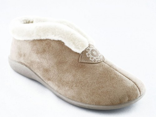 Dames Pantoffel Beige Zoma