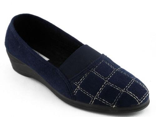 Dames Pantoffel Blauw Dfelino