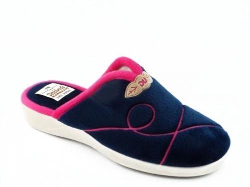 Dames Pantoffel Blauw Fuxia Comfort