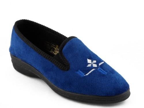 Dames Pantoffel Blauw Patrizia