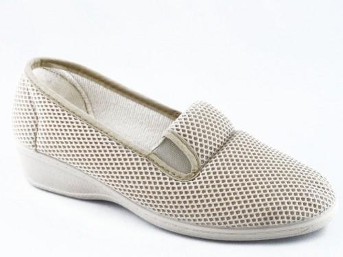 Dames Pantoffel Comfort Beige Koyuk