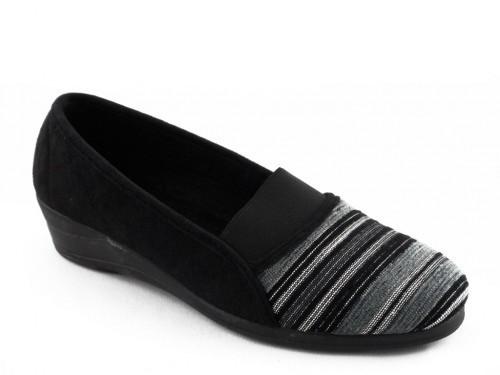 Dames Pantoffel Zwart Zilver Elegant