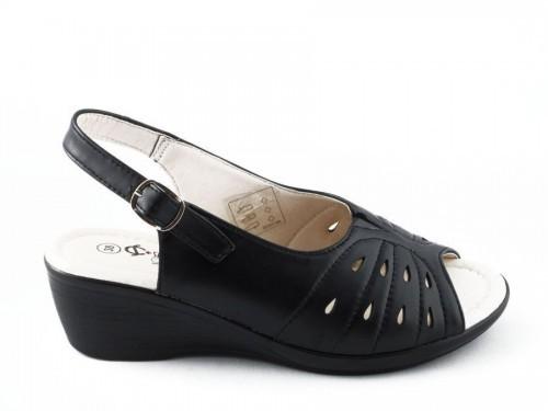 Dames Sandaal Zwart Softcontrol