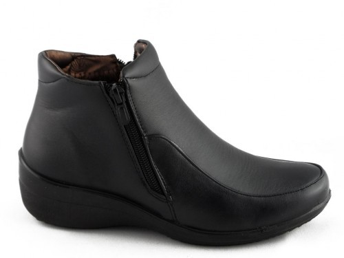 Damesschoen Zwart Rits Comfort