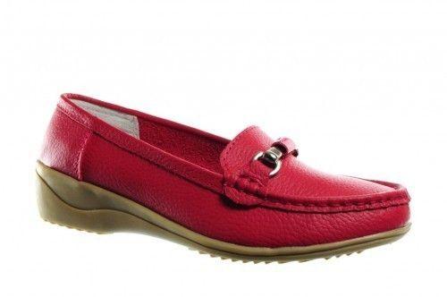 Goedkope Instapper Rood Leder