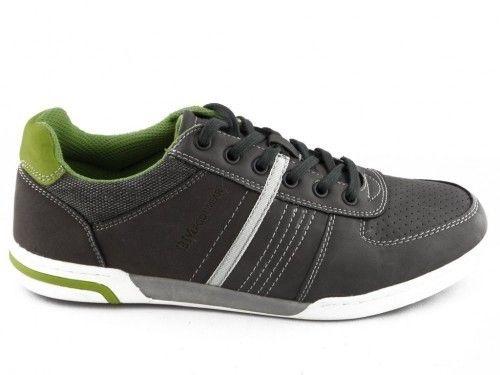 Grijze Veterschoen Alledaags Bm Footwear
