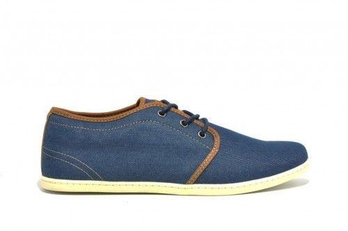 Heren Sneaker Jeans Blauw