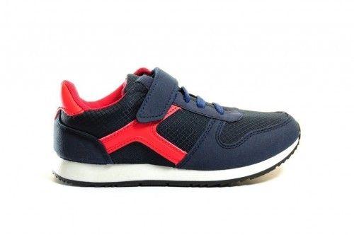 Jongens Sneaker Blauw Rood