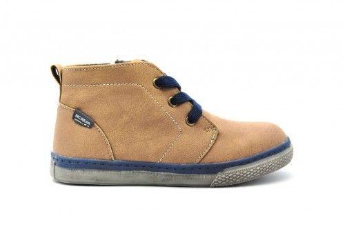 Jongens Sneaker Hoog Bruin