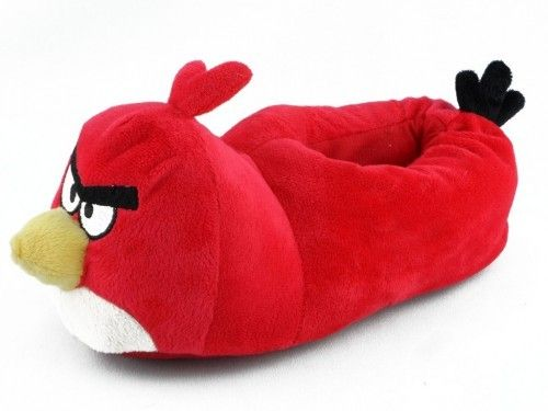 Kinderpantoffel Angy Birds Rood