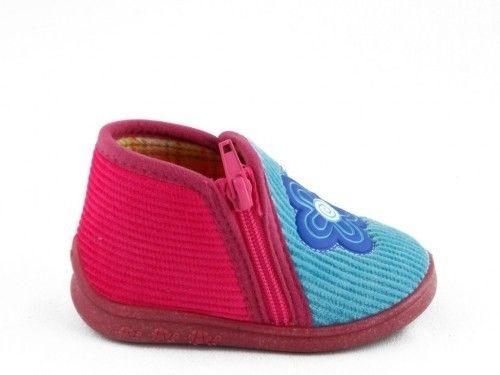 Kinderpantoffel Blauw Roze