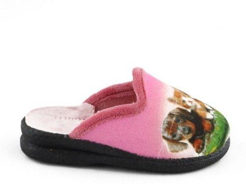 Kinderpantoffel Roze Hond Kat