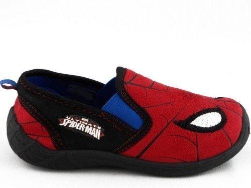 Kinderpantoffel Spiderman Zwart Rood Gesloten