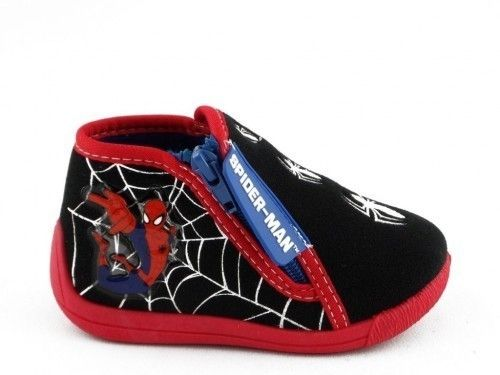 Kinderpantoffel Spiderman Zwart Rood Rits