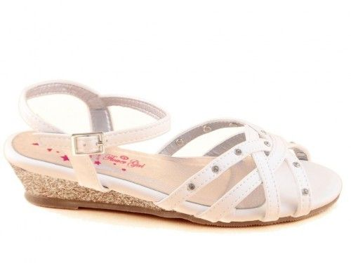 Kindersandalen Sleehak Wit