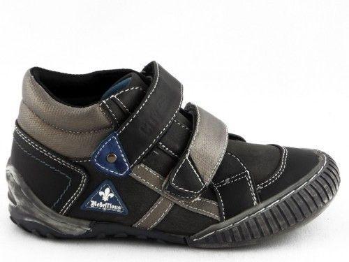 Kinderschoen Hoog Zwart Velcro New 8teen