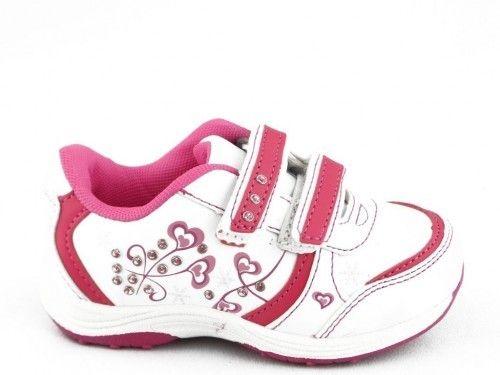 Kinderschoen Velcro Wit Fuxia Flower Girl