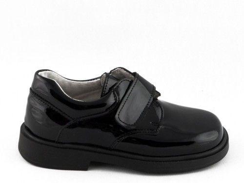 Kinderschoenen Lak Zwart Velcro Klassiek Tny