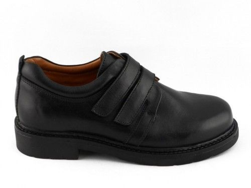 Kinderschoenen School Klassiek Uniform Velcro Leder