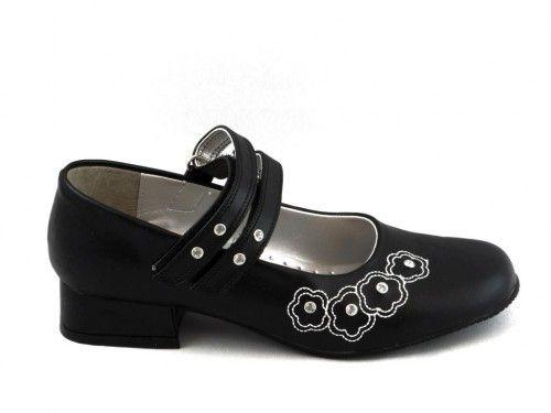 Kinderschoenen Zwart Hakje