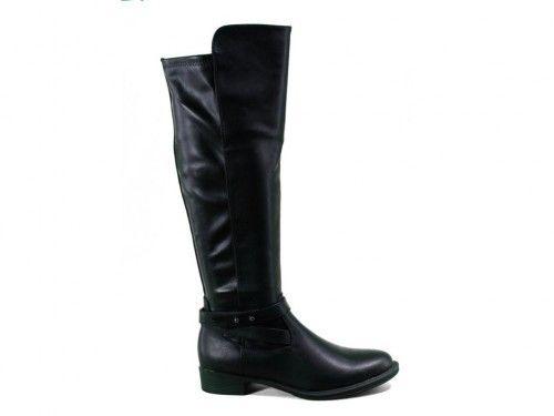 Lange Laarzen Zwart Basic