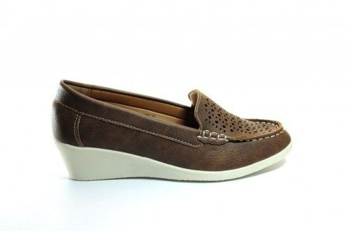 Loafer Sleehak Brown