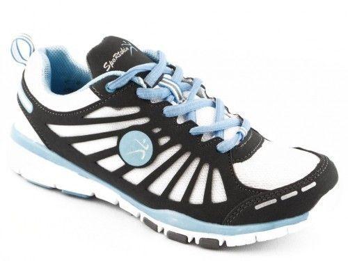 Loopschoen Zwart Wit Blauw Sportskin