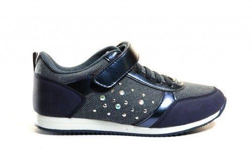 Meisjes Sneaker Blauw Jeans