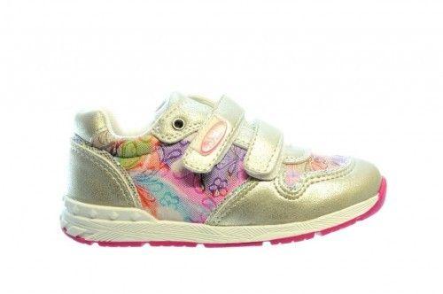Meisjes Sneaker Zilver Rose