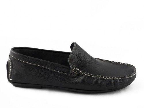 Mocassin Heren Zwart Leder