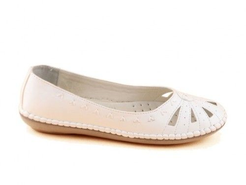 Moccasin Zomer Wit