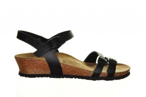 Papillio Zwart Sandalen Sleehak