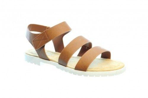 Platten Sandalen Natural