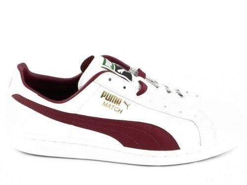 Puma Match Solid Wit Bordeaux