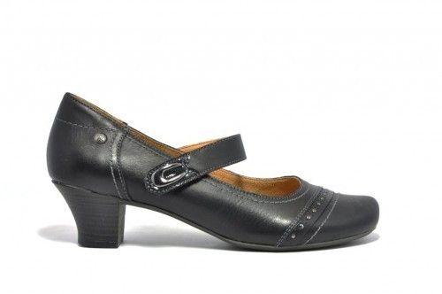 Pump Comfort Zwart Leder