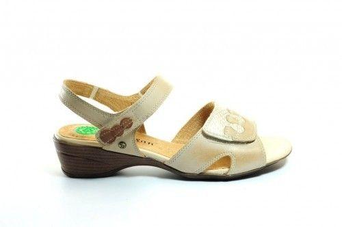 Sandalen Beige Comfort Leder