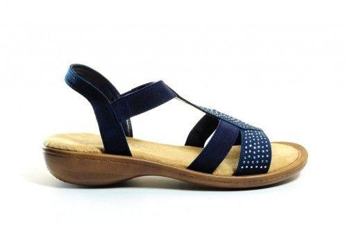 Sandalen Blauw Glitter