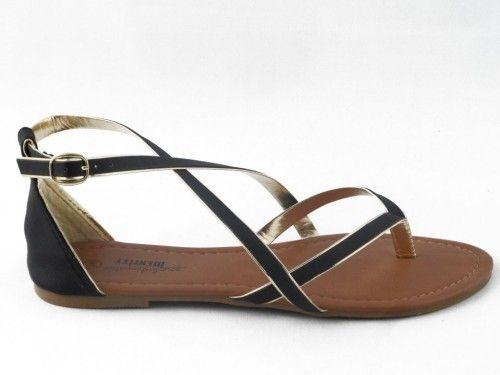 Sandalen Dames Zwart Goud