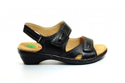 Sandalen Zwart Leder