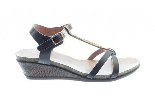 Sandalen Zwart Sleehak Elegant