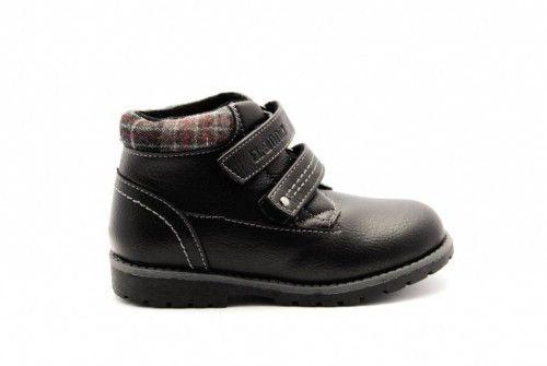 Schoolschoenen Jongens Zwart Velcro